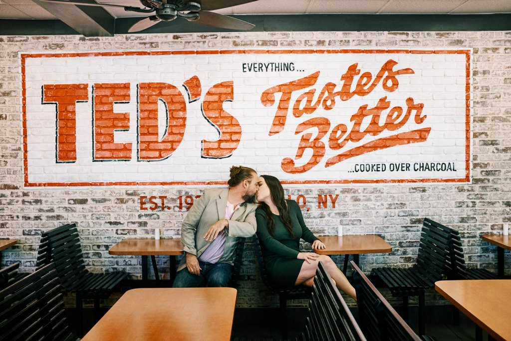teds hot dogs engagement session