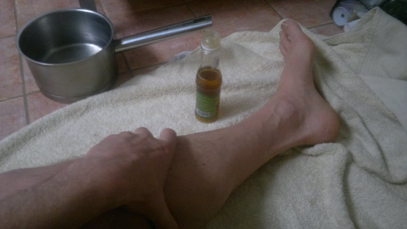 Self massage with warm oil