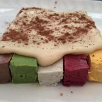 Keith's multi-coloured raw, vegan desserts with ginger, orange and peppermint