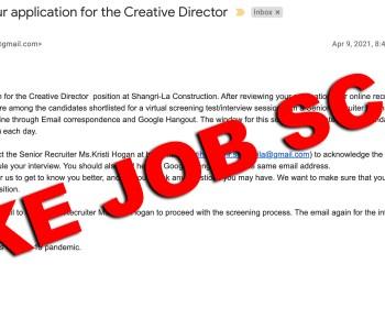 Fake Job Scam