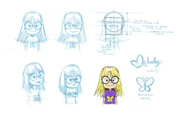 Initial sketches for Melody