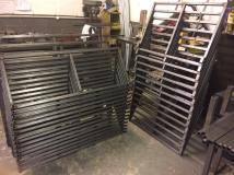 high seats fabricated and ready for the finishers
