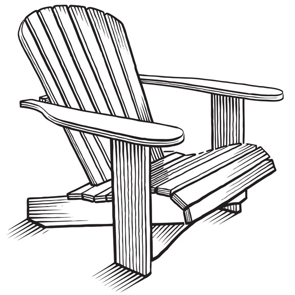 How To Draw Adirondack Chair PDF Woodworking