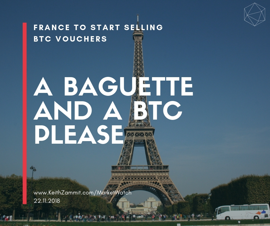France Tobacco Shops to start selling BTC vouchers.