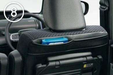 新型タント内装おすすめオプションシートバックポケット(運転席)