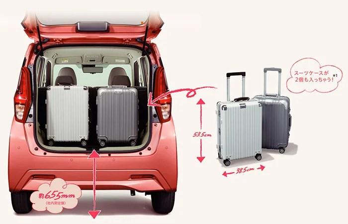 新型ek-ワゴン内装ラゲッジ容量