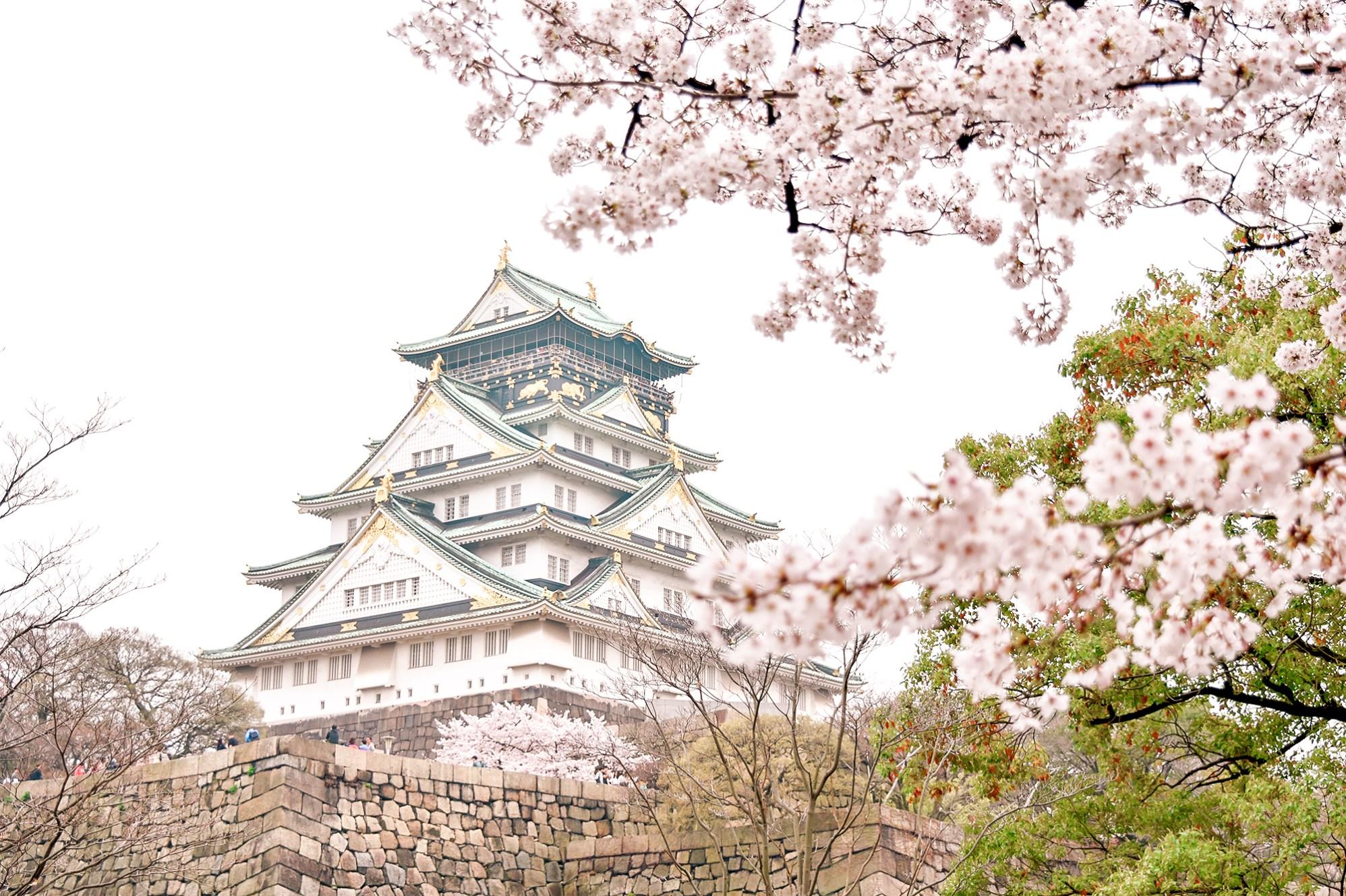 Osaka Castle in spring