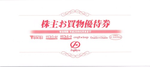 藤久(9966)2,500円相当の優待券(500円×5枚)