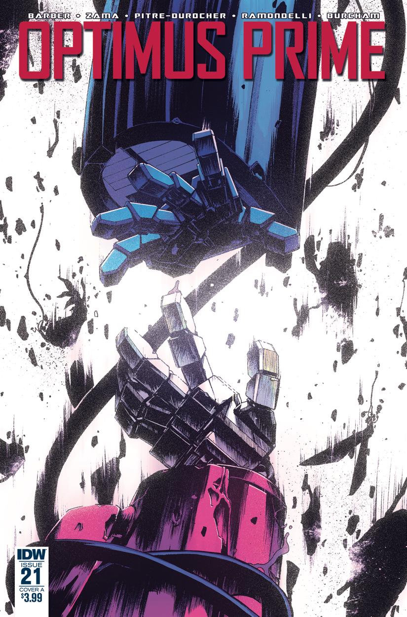 Optimus Prime #21 cover color