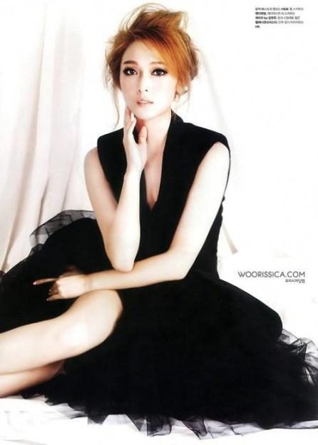 Jessica Modeling in Black Dress Wallpaper