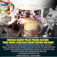 "Kerajaan DAP Penang Tak Dipedulikan ""Mangsa Banjir"""