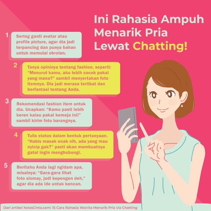 15 Cara Rahasia Wanita Menarik Pria via Chatting