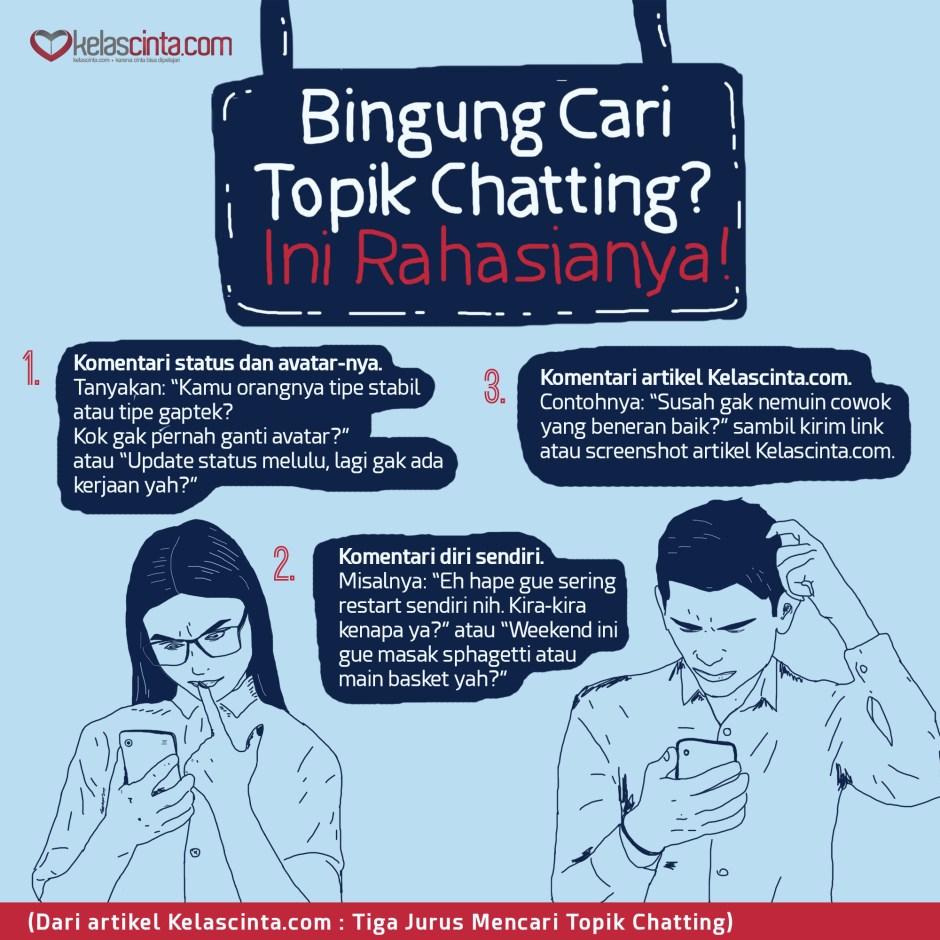 Tiga Jurus Mencari Topik Chatting Kelas Cinta