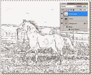lukisan kuda 11
