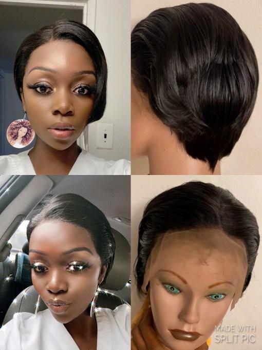 Beautiful Pixel Cut Lace Front Wig For Women