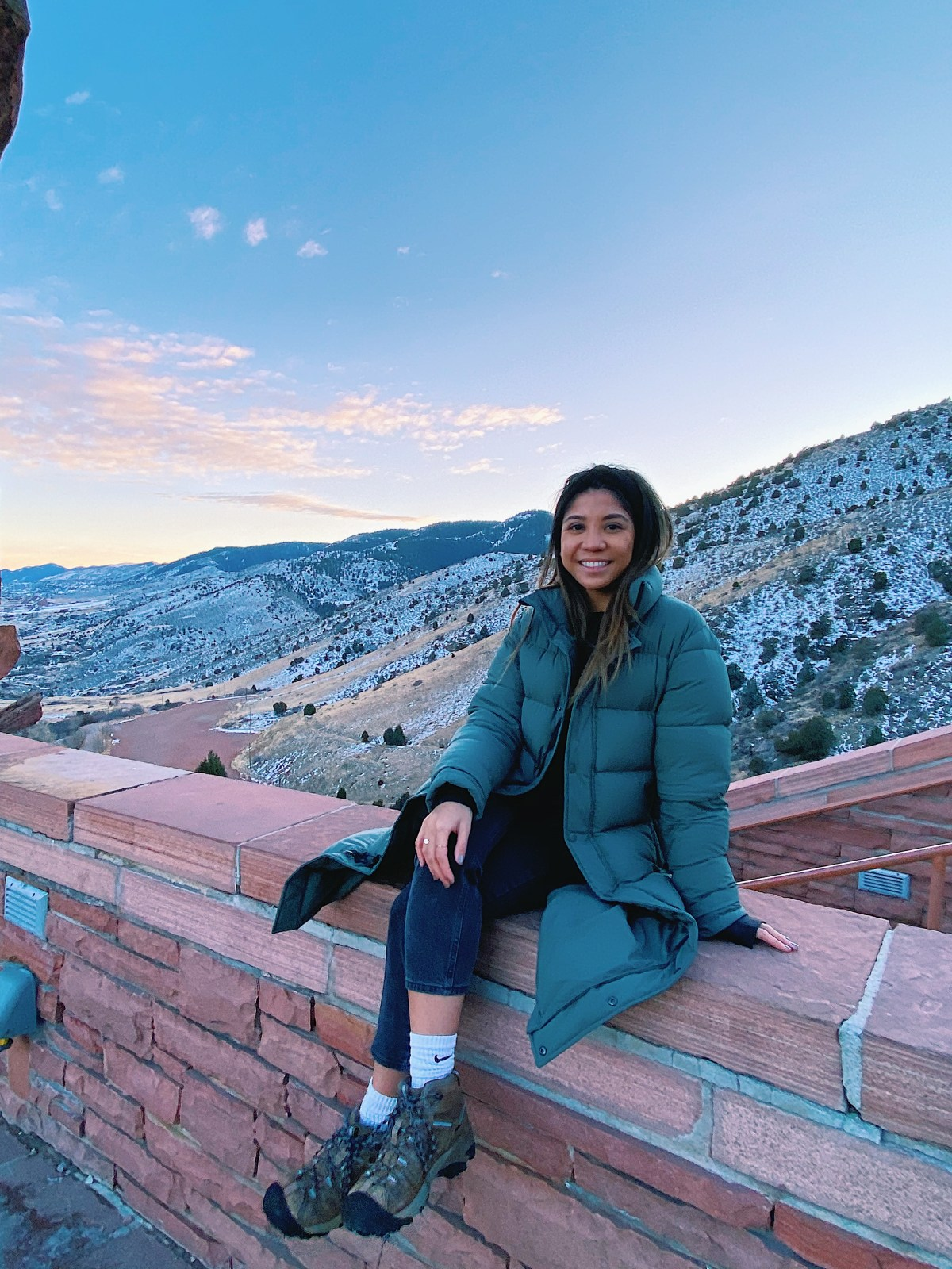 plan to watch the sunset at Red Rocks Amphitheater before your start your Colorado ski trip