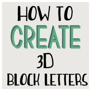 how to create 3d