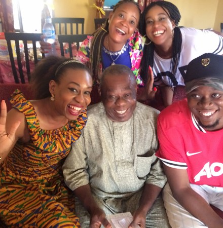 Behind the camera: Dad, siblings and friend