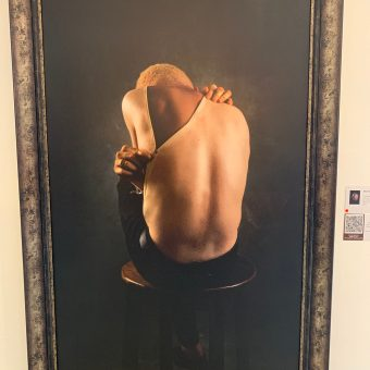 A painting seen at Yetunde Ayeni-Babaeko photo exhibition on people with albinism at Temple Muse, Lagos