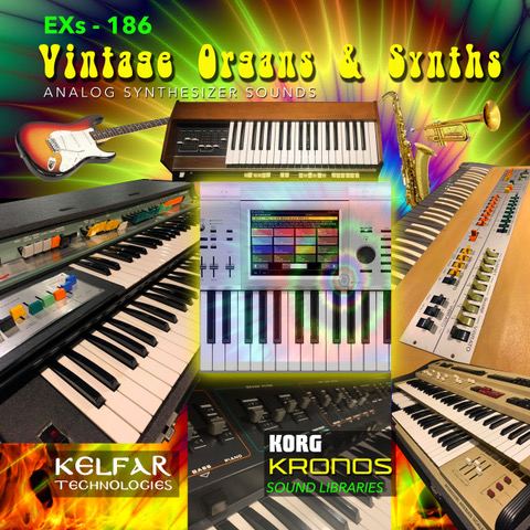 Large EXs 186 Vintage Organs & Synths