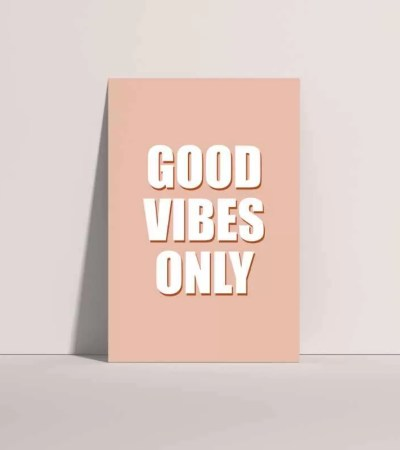 Good Vibes Pink and White