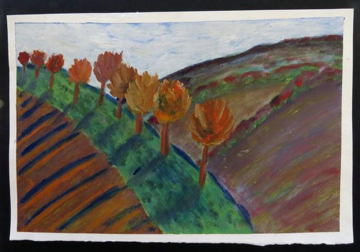 Italian Mountain Landscape - Oil