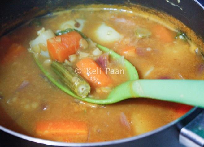 Sambar ready for the seasoning