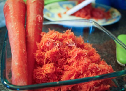 Grated North Indian carrot