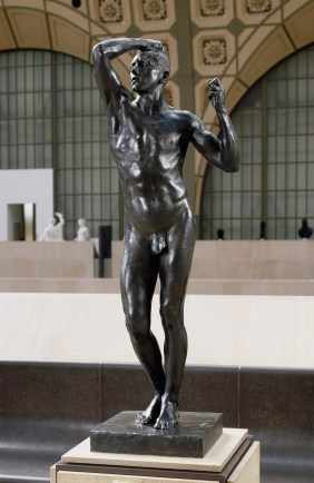 Auguste Rodin, 'l'Age d'Airain', 1877-1880, bronze, in Musee d'Orsay, Paris. Photo credit P. Schmidt/Musee d'Orsay.
