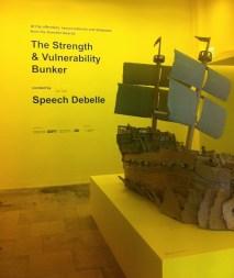 Entry to 'Strength & Vulnerability Bunker' at Southbank Centre, Bankside, London. Photo credit Kelise Franclemont.