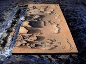 Eleonora Bourmistrov, 'An Entropic Painting', 2014, Acrylic, sand, volcanic ash, pigments, glass, spray on canvas. Image courtesy the artist.