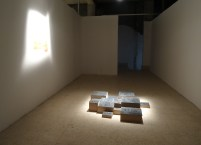 Majdal Nateel, 'Without coffins', 2014, installation, in 'Suspended Accounts'', Qalandiya International 2014 biennial art fair in Ramallah Municipal Hall, Palestine. Photo credit Kelise Franclemont.