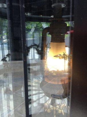 Mat Collishaw, 'Magic Lantern Small' (detail), 2016, in Sculpture in the City 2016, London. Photo credit Kelise Franclemont.