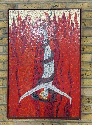 Southbank Mosaics group, after William Blake, 2007-2014, in 'Blake's Lambeth', Carlisle Lane, Waterloo, London. Photo credit Kelise Franclemont.