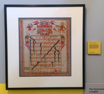 Snakes and Ladders, 19th century, India, V&A Museum of Childhood, London. Photo credit Kelise Franclemont.
