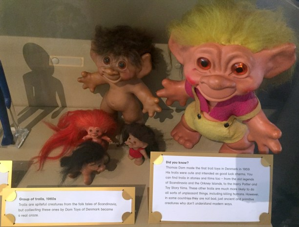 Troll dolls, 1980s, V&A Museum of Childhood, London. Photo credit Kelise Franclemont.