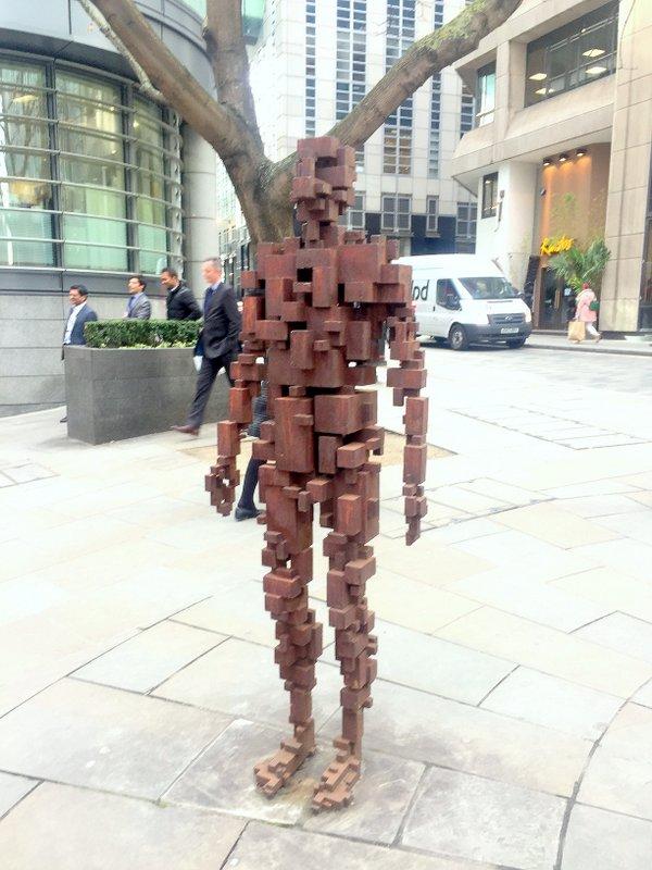 Antony Gormley, 'Resolution', 2007, bronze?, corner of Shoe Lane and St Bride street, London. Photo credit Kelise Franclemont.