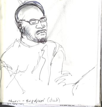 Kelise Franclemont, 'Edwin', study from London Shakespeare Workout, 15 December 2017, at HMP Pentonville, London.