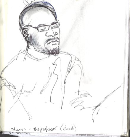 Kelise Franclemont, 'Edwin', study from London Shakespeare Workout, 15 December 2017, at HMP Pentonville, London.