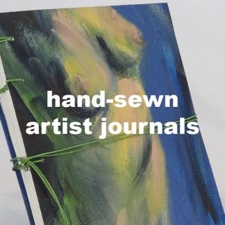 hand-sewn artist journals