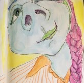 12 May 2017 #FridayFeeling I always wanted to be happy, so I decided to be.-Neil Baldwin #365LoveNotesToSelf Day 88, ink and aquarelle on paper