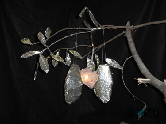 4 May 2017 #ThrowbackThursday Your flaws are perfect for the heart that's meant to love you.-unknown #365LoveNotesToSelf Day 80, tin, wood, and electric light ('inside-out self-portrait', 2001)