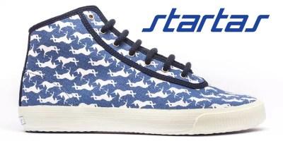 Startas magasszárú vászoncipők