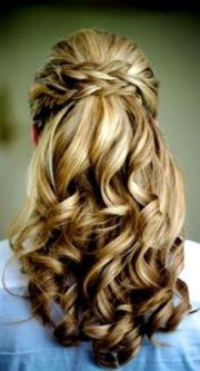 coiffure mariage cheveux mi long