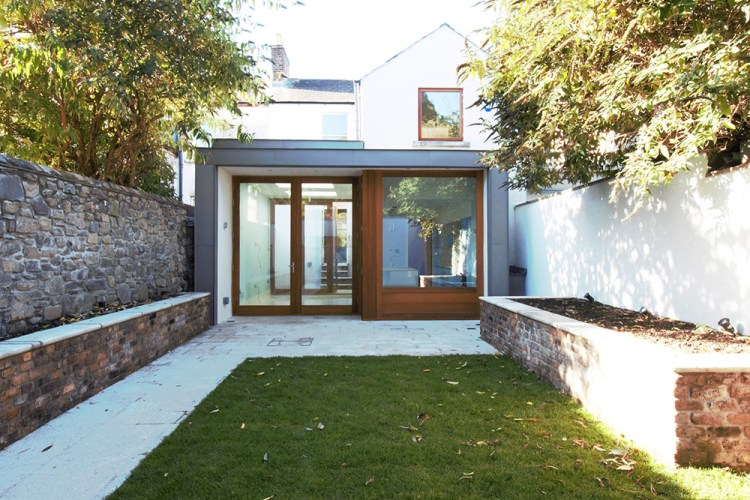 keller architects D2 period house view of extension and private garden