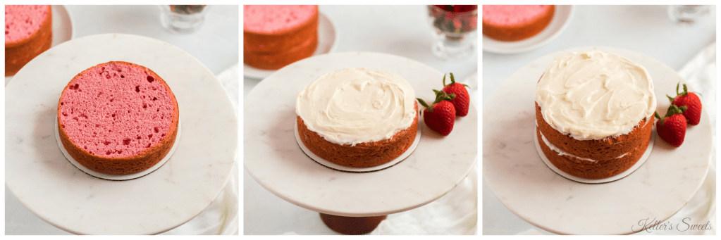 Delicious Homemade Strawberry Cake| This homemade strawberry cake is amazingly simple, and it is so delicious it will be gone in minutes. This will be a perfect cake for your next family gathering, work meeting, or just because!| https://butterysweet.com/blog/delicious-homemade-strawberry-cake