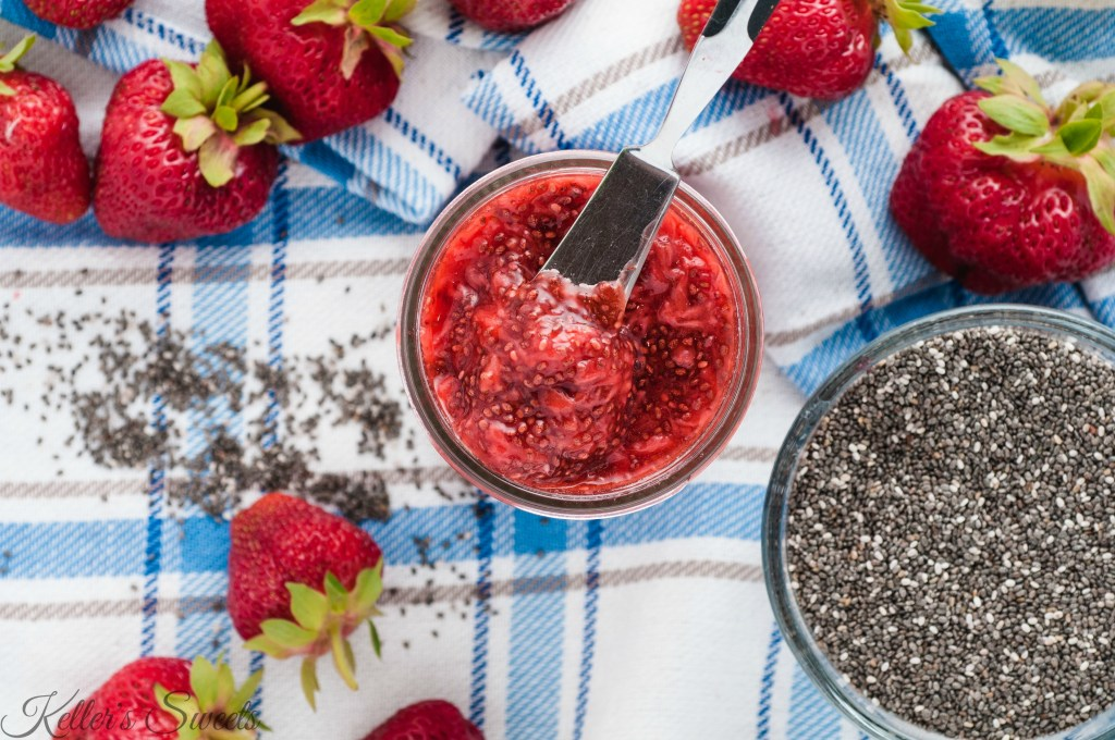 Strawberry Chia Seed Jam| This Strawberry Chia Seed Jam is packed with nutrition and fresh strawberries making it the ultimate jam. This recipe is super easy to make and can be used in multiple ways to add valuable nutrition to many dishes. | https://butterysweet.com/blog/strawberry-chia-seed-jam