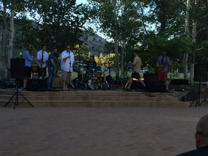 The reception featured several talented musicians from Grand Junction jamming together on stage.