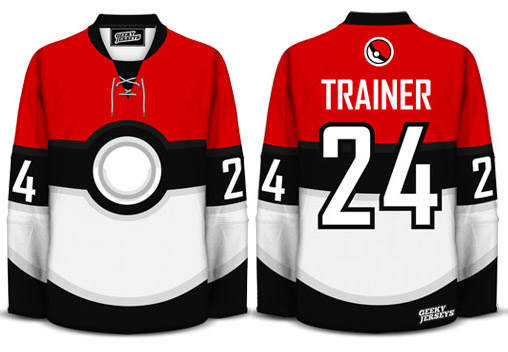 Geeky Jerseys Pokemon Trainer Hockey Jersey