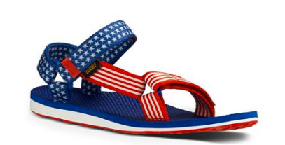 DSW Teva Patriotic Sandals